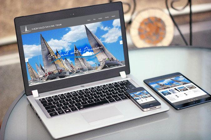 Kurumsal web tasarım - Nomad Sailing Team - Bodrum İstanbul