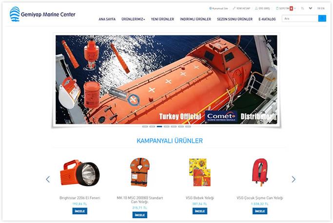 Gemiyap Marin Center web sitesi yazılımı İstanbul