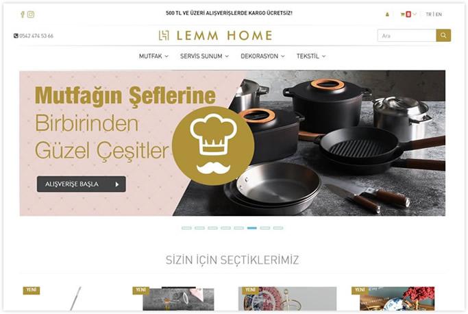 Web tasarım - Lemm Home - İstoç - İstanbul