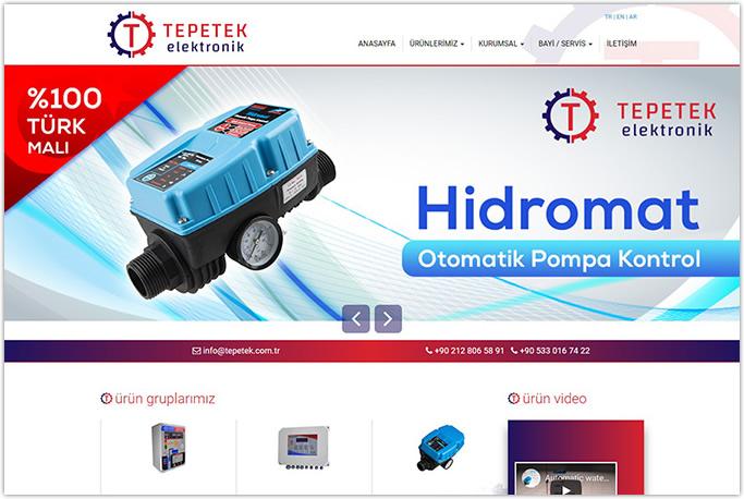 Tepetek Elektronik Web Sitesi Tasarımı İkitelli Başakşehir İstanbul