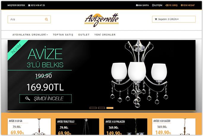 Avizenette Eticaret web sitesi yazılımı Zeytinburnu Bakırköy İstanbul