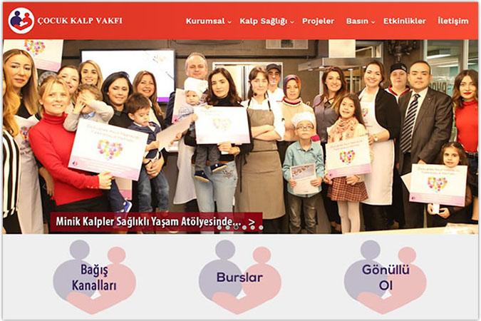 Çocuk Kalp Vakfı kurumsal web sitesi tasarımı Bakırköy Yenibosna Bahçelievler İstanbul