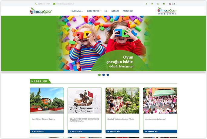 Elmaagacı Anaokulu Eğitim Kurumu Kurumsal Web Site Tasarımı Küçükyalı Maltepe İstanbul