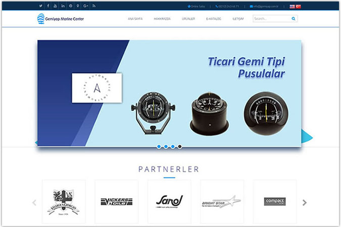 Gemiyap Marine Center kurumsal web site tasarımı Tophane Beyoğlu Beşiktaş İstanbul