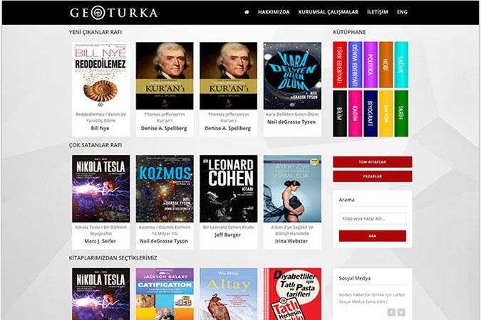 Geoturka Yayınevi Kurumsal Web Sitesi Tasarımı İstanbul