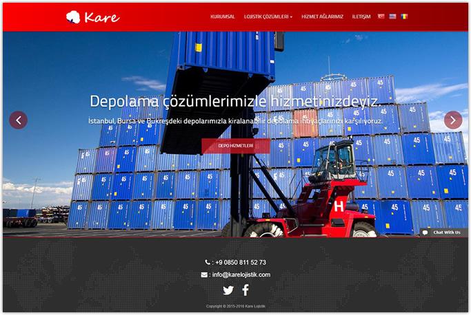 Kare Lojistik Kurumsal Web Site Tasarımı Bayrampaşa Esenler İstanbul