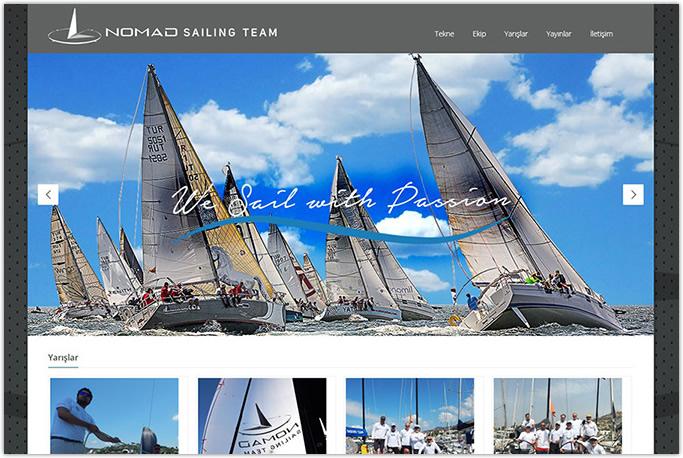Nomad Sailing Team Web Sitesi Tasarımı Muğla Bodrum İstanbul