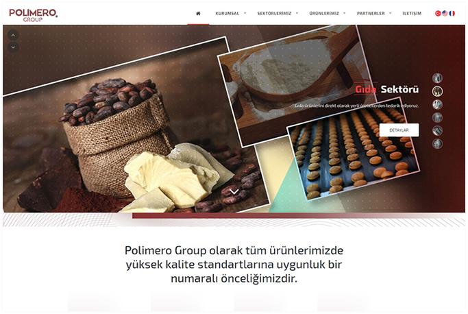 Polimero Group Kurumsal Web Sitesi Tasarımı İstoç İstanbul