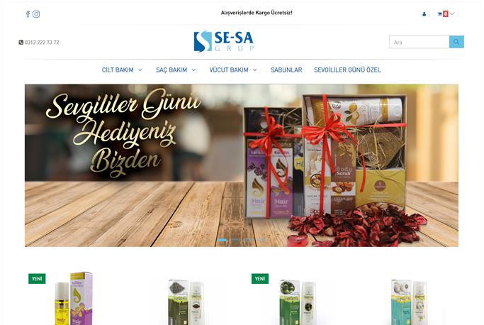 E-ticaret Yazılımı - Sesa Natural Cosmetics - Çankaya - Ankara
