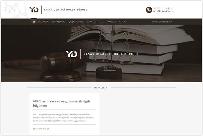 Yaşar Demirci Hukuk Bürosu kurumsal web sitesi tasarımı Kartal Tuzla İstanbul